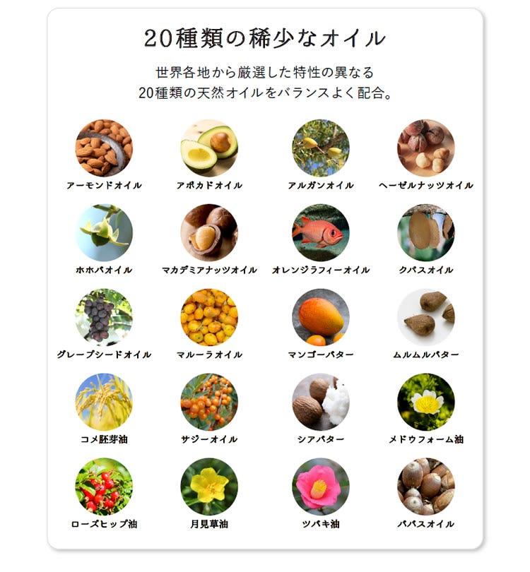 20種類の稀少なオイル