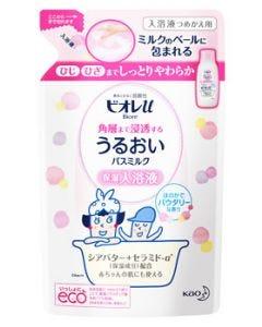 花王 ビオレu 角層まで浸透する うるおいバスミルク パウダリーな香り つめかえ用 (480mL) 詰め替え用 保湿入浴液