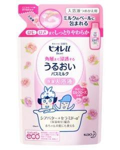 花王 ビオレu 角層まで浸透する うるおいバスミルク やさしいミルクローズの香り つめかえ用 (480mL) 詰め替え用 入浴液