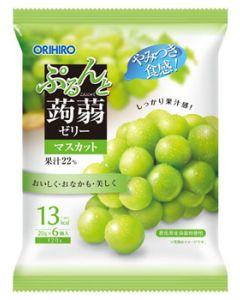 オリヒロ ぷるんと蒟蒻ゼリー パウチ マスカット (20g×6個)