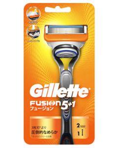 【特売セール】 P&G ジレット フュージョン5+1 ホルダー (1本) 本体 替刃2個付 カミソリ シェービング 髭剃り 【P&G】