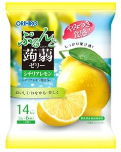オリヒロ ぷるんと蒟蒻ゼリー パウチ レモン (120g) こんにゃくゼリー ※軽減税率対象商品