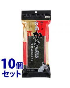 《セット販売》 やま磯 宮島かきの醤油のりおにぎりR (3切12枚)×10個セット 味付のり ※軽減税率対象商品