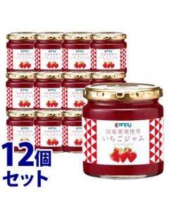 《セット販売》 加藤産業 カンピー 国産果実使用いちごジャム (260g)×12個セット Kanpy