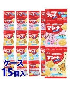 《ケース》 森永製菓 マンナ ビスケット おやつパック (13g×4袋)×15個 9ヶ月頃から大人の方まで 栄養機能食品