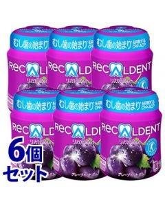 《セット販売》 モンデリーズ・ジャパン リカルデント グレープミントガム 粒 ボトルR (140g)×6個セット 特定保健用食品 トクホ