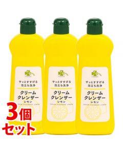 《セット販売》 くらしリズム 日本合成洗剤 クリームクレンザー レモン (400g)×3個セット