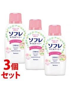 《セット販売》バスクリンソフレマイルド・ミーミルク入浴液和らぐサクラの香り本体(720mL)×3個セット入浴剤
