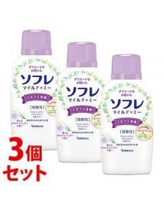 《セット販売》バスクリンソフレマイルド・ミーミルク入浴液夢みるホワイトラベンダーの香り本体(720mL)×3個セット入浴剤