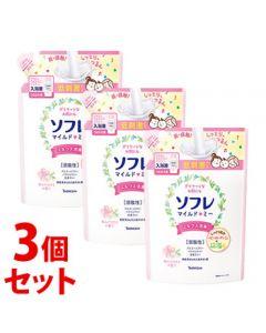 《セット販売》バスクリンソフレマイルド・ミーミルク入浴液和らぐサクラの香りつめかえ用(600mL)×3個セット詰め替え用入浴剤