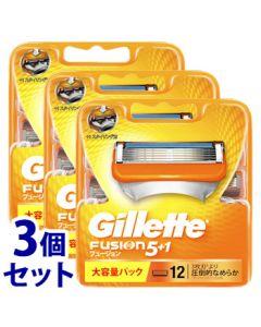 《セット販売》P&Gジレットフュージョン5+1替刃(12個)×3個セットカミソリ髭剃り【P&G】