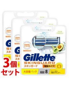 《セット販売》P&Gジレットスキンガードパワー替刃(8個)×3個セットカミソリ髭剃り【P&G】