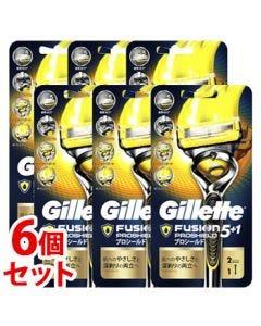 《セット販売》P&Gジレットプロシールドホルダー替刃2個付(1個)×6個セット5枚刃カミソリ髭剃り【P&G】