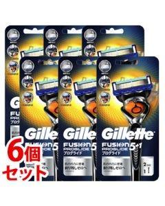 《セット販売》P&Gジレットプログライドフレックスボールマニュアルホルダー(1本)×6個セット本体替刃2個付カミソリシェービング髭剃り【P&G】