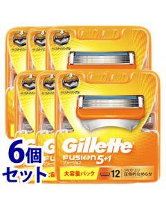 《セット販売》P&Gジレットフュージョン5+1替刃(12個)×6個セットカミソリ髭剃り【P&G】