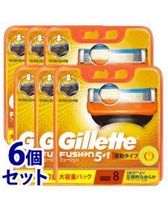 《セット販売》P&Gジレットフュージョン5+1パワー替刃(8個)×6個セットカミソリ髭剃り【P&G】