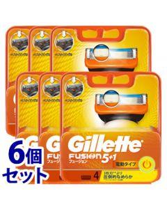 《セット販売》P&Gジレットフュージョン5+1パワー替刃(4個)×6個セットカミソリ髭剃り【P&G】
