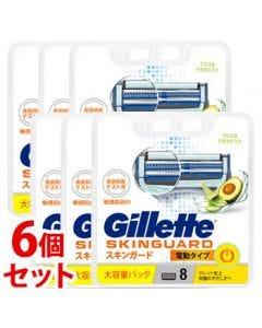 《セット販売》P&Gジレットスキンガードパワー替刃(8個)×6個セットカミソリ髭剃り【P&G】