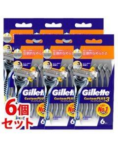 《セット販売》P&Gジレットカスタムプラス3プレミアムスムース(6本)×6個セット使い捨てカミソリシェービング髭剃り【P&G】