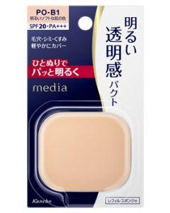 カネボウメディアブライトアップパクトPO-B1明るいソフトな肌の色レフィル(11.5g)SPF20PA+++パウダーファンデーションmedia