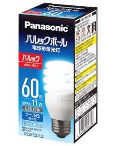 パナソニック パルックボール D15形 E26口金 クール色 EFD15ED11EF2 (1個) 電球形蛍光灯 60形