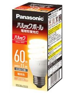 パナソニック パルックボール D15形 E26口金 電球色 EFD15EL11EF2 (1個) 電球形蛍光灯 60形