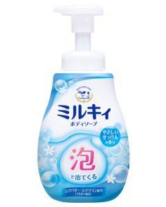 牛乳石鹸泡で出てくるミルキィボディソープやさしいせっけんの香りポンプ(600mL)