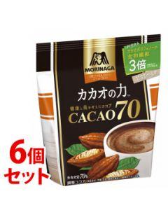《セット販売》森永製菓カカオの力CACAO70(200g)×6個セット調整ココア