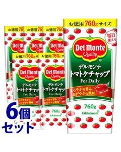 《セット販売》キッコーマンデルモンテトマトケチャップデイリー(760g)×6個セット