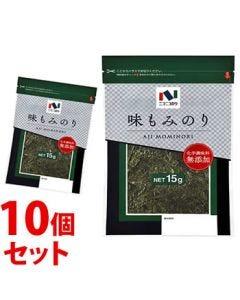 《セット販売》 ニコニコのり 味もみのり (15g)×10個セット 味海苔 味付のり