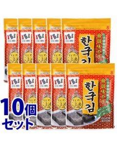 《セット販売》 ニコニコのり 韓国味のり (8切40枚)×10個セット 味海苔 味付のり