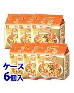 《ケース》東洋水産マルちゃん正麺味噌味5食パック(540g)×6個インスタント袋麺