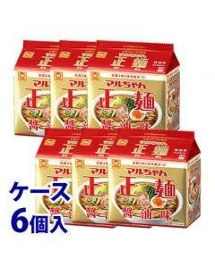 《ケース》東洋水産マルちゃん正麺醤油味5食パック(525g)×6個インスタント袋麺