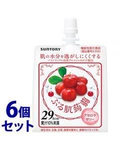 《セット販売》サントリーぷる肌蒟蒻アセロラゼリー(150g)×6個セットゼリー飲料機能性表示食品