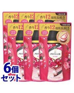 《セット販売》P&Gレノアハピネスアロマジュエルアンティークローズ&フローラルの香りつめかえ用(415mL)×6個セット詰め替え用衣料用香りづけ剤【P&G】
