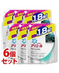 《セット販売》P&Gアリエールプロクリーンジェルつめかえ用超特大サイズ(1340g)×6個セット詰め替え用洗濯洗剤【P&G】