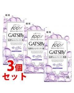 《セット販売》 マンダム GATSBY ギャツビー フェイシャルペーパー せっけんの香り 徳用タイプ (42枚)×3個セット 男性用 洗顔シート