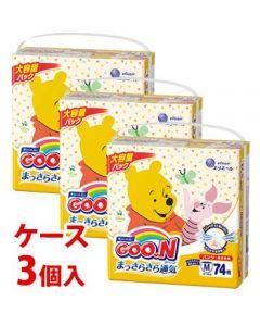 《ケース》大王製紙エリエールグーンパンツまっさらさら通気Mサイズ(74枚)×3個男女共用ベビー用紙おむつパンツタイプ