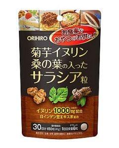オリヒロ菊芋イヌリン桑の葉の入ったサラシア粒(45g)サプリメント