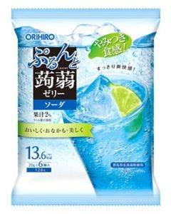 オリヒロ ぷるんと蒟蒻ゼリー パウチ ソーダ (20g×6個) こんにゃくゼリー