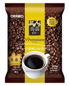 オリヒロ ぷるんと蒟蒻ゼリー パウチ プレミアム コーヒー (20g×6個) こんにゃくゼリー