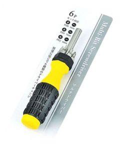 エコー金属 マルチドライバー 6P 0506624 (1セット) プラス マイナスドライバ