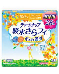 ユニチャームチャームナップ吸水さらフィ多くても安心用100cc29cm(28枚)軽失禁ナプキン