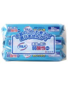 白十字サルバお肌にやさしいおしりふき(80枚×3個パック)介護用品弱酸性ノンアルコール