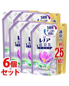 《セット販売》P&Gレノア超消臭1weekリラックスアロマ特大サイズつめかえ用(980mL)×6個セット詰め替え用柔軟仕上げ剤【P&G】