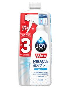 P&GジョイW除菌ミラクル泡スプレー微香つめかえ用(630mL)詰め替え用約3回分食器用洗剤台所用洗剤【P&G】
