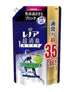 P&Gレノア超消臭1weekスポーツデオXフレッシュシトラスブルーつめかえ用超特大サイズ(1390mL)詰め替え用柔軟仕上げ剤【P&G】
