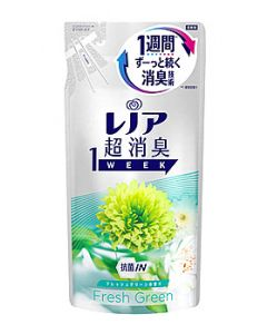 P&Gレノア超消臭1weekフレッシュグリーンつめかえ用(400mL)詰め替え用柔軟仕上げ剤【P&G】