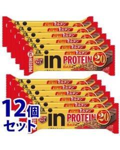 《セット販売》森永製菓inバープロテインSuperクランチチョコ(1本)×12個セットプロテインバー