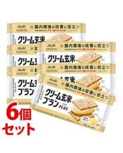 《セット販売》アサヒクリーム玄米ブランプラス豆乳&カスタード(72g)×6個セット機能性表示食品